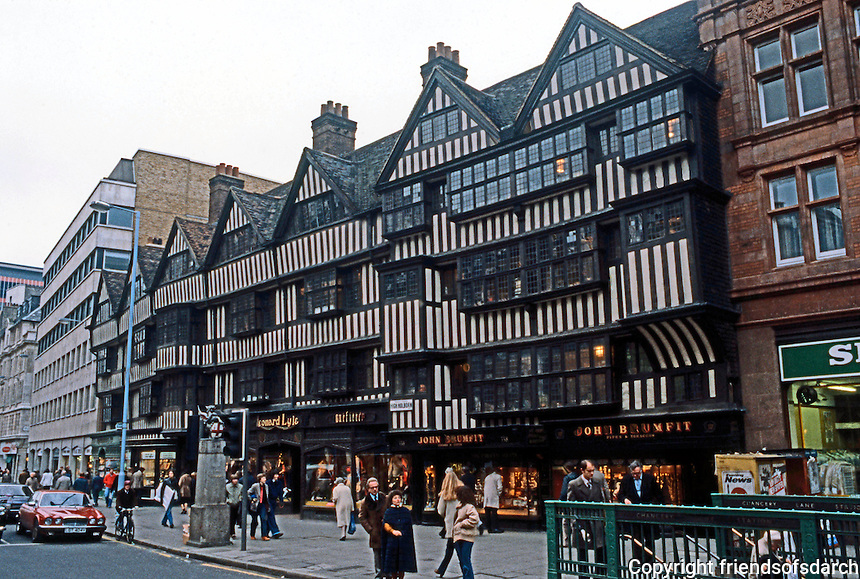 London: Houses, Staple Inn. Holborn 1586.