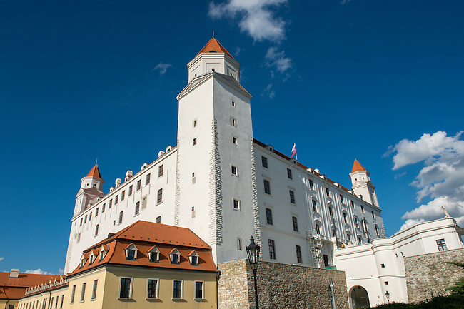 The Bratislava Castle on a hill in Bratislava, the capital of Slovakia.