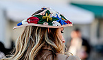 November 3, 2018 : A woman wears a fancy hat on Breeders Cup World Championships Saturday at Churchill Downs on November 3, 2018 in Louisville, Kentucky. Bill Denver /Eclipse Sportswire/CSM