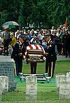 Burial of an Unknown Civil War Soldier on July 1, 1997, on the 134th anniversary of the Battle of Gettysburg, July 1,2, & 3, 1863, Gettysburg National Cemetery, Pennsylvania, USA. The soldier's remains were discovered by a tourist in March of 1996.