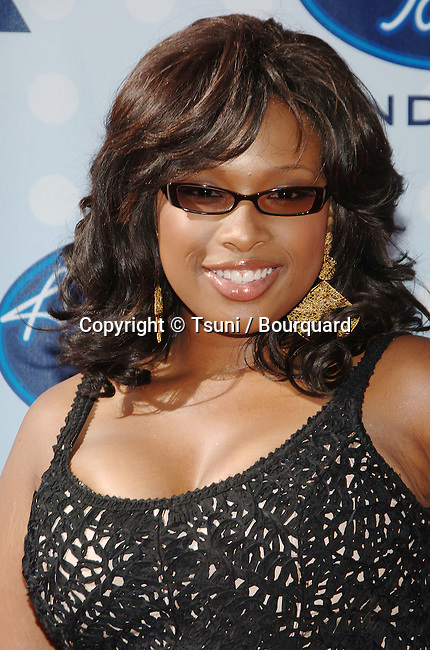 Jennifer Hudson arriving at the AMERICAN IDOL Grand Final at the Kodak Theatre In Los Angeles.<br /> <br /> headshot<br /> eye contact<br /> smile
