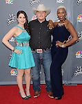 Audra McLaughlin, Jake Worthington and Sisaundra Lewis arriving at the 'The Voice Top 12 Artist of Season 6 Red Carpet Event' held at Universal Citywalk Los Angeles, CA. April 15, 2014.