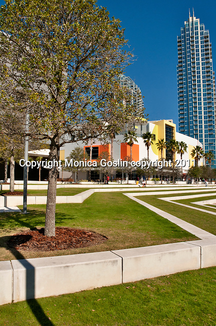 The Glazer Children's Museum and the Curtis Hixon Waterfront Park in downtown Tampa, Florida