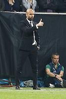 MILANO 28 MARZO 2012, MILAN - BARCELLONA,QUARTI DI FINALE UEFA CHAMPIONS LEAGUE 2011 - 2012, NELLA FOTO:GUARDIOLA , FOTO DI ROBERTO TOGNONI.