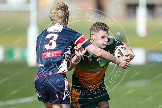 The Wyong Roos play Erina Eagles in Round 18 of the U19's Central Coast Rugby League Division at Morry Breen Oval on 20 August, 2017 in Kanwal, NSW Australia. (Photo by Paul Barkley/LookPro)
