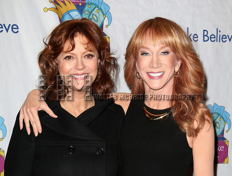 Susan Sarandon and Kathy Griffin attend the 14th Annual 'Only Make Believe' Gala at the Bernard B. Jacobs Theatre on November 4, 2013  in New York City.