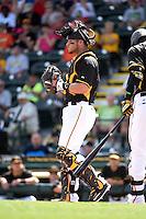 Pittsburgh Pirates catcher Sebastian Valle (74) during the Black & Gold intrasquad game on March 2, 2015 at McKechnie Field in Bradenton, Florida.  (Mike Janes/Four Seam Images)