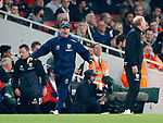 West Brom's Tony Pulis appeals for a penalty during the premier league match at the Emirates Stadium, London. Picture date 25th September 2017. Picture credit should read: David Klein/Sportimage