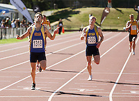 Otago's Andrew Moore wins the men's 400m final during day two of the National athletics championships at Newtown Park, Wellington, New Zealand on Saturday, 28 March 2009. Photo: Dave Lintott / lintottphoto.co.nz