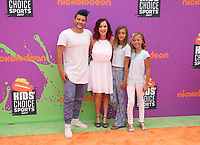 LOS ANGELES, CA July 13- Jesse Vlach, Terra Vlach, Jayla Vlach and Aydah Vlach, At Nickelodeon Kids' Choice Sports Awards 2017 at The Pauley Pavilion, California on July 13, 2017. Credit: Faye Sadou/MediaPunch