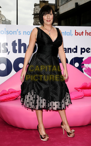 "KAREN TAYLOR.The UK Film Premiere of ""Angus, Thongs and Perfect Snogging"", Empire cinema, Leicester Square, London, England..July 16th 2008.full length black polka dot dress bows bow shoes .CAP/CAN.©Can Nguyen/Capital Pictures."