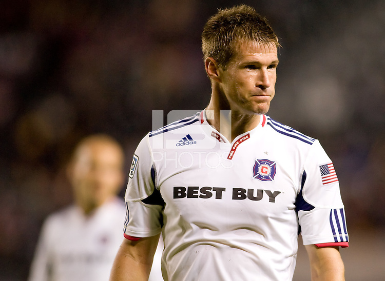 Brian McBride Chicago Fire forward during his last match as a Fire player. The Chicago Fire defeated CD Chivas USA 3-1 at Home Depot Center stadium in Carson, California on Saturday October 23, 2010.