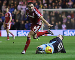 KIKE of Middlesbrough running with the ball after a missed tackle from Barry Bannan of Sheffield Wednesday - Sky Bet Championship - Middlesbrough vs Sheffield Wednesday - Riverside Stadium - Middlesbrough - England - 28th of December 2015 - Picture Jamie Tyerman/Sportimage