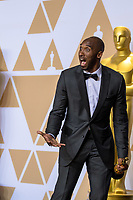 Kobe Bryant poses backstage with the Oscar&reg; for best animated short film for work on &ldquo;Dear Basketball&rdquo; during the live ABC Telecast of The 90th Oscars&reg; at the Dolby&reg; Theatre in Hollywood, CA on Sunday, March 4, 2018.<br /> *Editorial Use Only*<br /> CAP/PLF/AMPAS<br /> Supplied by Capital Pictures