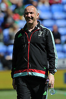 Conor O'Shea, Harlequins Director of Rugby, looks relaxed ahead of the Aviva Premiership match between London Irish and Harlequins at the Madejski Stadium on Sunday 1st May 2016 (Photo: Rob Munro/Stewart Communications)