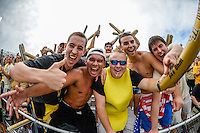 September 28, 2013 - Orlando, FL, U.S: UCF Knights student section before the start of NCAA football game action between the South Carolina Gamecocks and the UCF Knights at Bright House Networks Stadium in Orlando, Fl