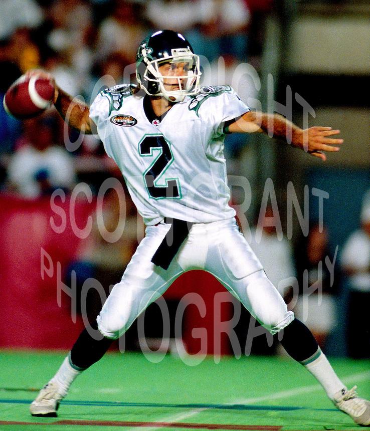 Doug Flutie Toronto Argonauts 1996. Photo Scott Grant