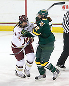 Danielle Welch (BC - 17), Celeste Doucet (Vermont - 12) - The University of Vermont Catamounts defeated the Boston College Eagles 5-1 on Saturday, November 7, 2009, at Conte Forum in Chestnut Hill, Massachusetts.