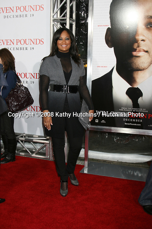 """Laila Ali arriving at the Premiere of """"Seven Pounds"""" at the Mann's Village Theater in Westwood, CA on December 15, 2008.©2008 Kathy Hutchins / Hutchins Photo..                ."""