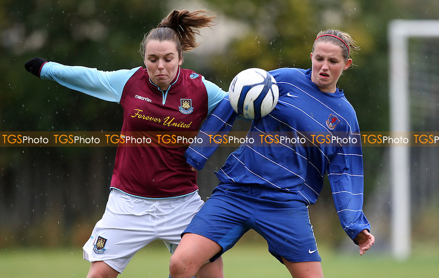 - West Ham United Ladies Reserves vs Cardiff City Ladies Reserves - FA Premier Reserves Division One South at Flanders Playing Fields, East Ham - 23/09/12 - MANDATORY CREDIT: Rob Newell/TGSPHOTO - Self billing applies where appropriate - 0845 094 6026 - contact@tgsphoto.co.uk - NO UNPAID USE.