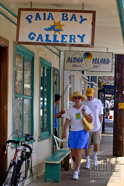 Paia, a quaint town along the coastal Hana highway invites visitors to discover it's assortment of cafe's, gift shops, art galleries and specialty stores. Located in north-central Maui.