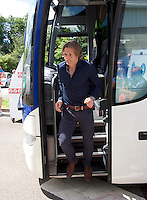 Manager Gareth Ainsworth of Wycombe Wanderers arrives for the Sky Bet League 2 match between Crawley Town and Wycombe Wanderers at Broadfield Stadium, Crawley, England on 6 August 2016. Photo by Alan  Stanford / PRiME Media Images.