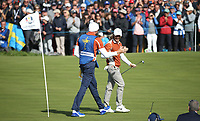 Tommy Fleetwood (Team Europe) on the 12th during Saturday's Fourballs, at the Ryder Cup, Le Golf National, Île-de-France, France. 29/09/2018.<br /> Picture David Lloyd / Golffile.ie<br /> <br /> All photo usage must carry mandatory copyright credit (© Golffile | David Lloyd)