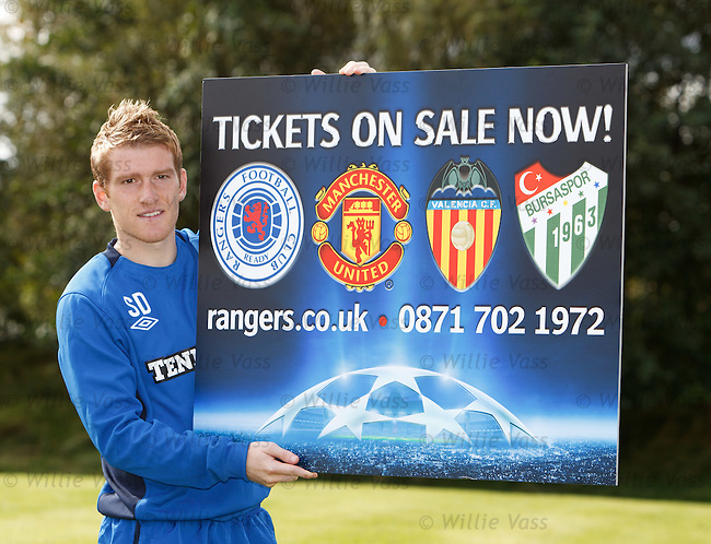Steven Davis reminds fans that the Champions League ticket packages are now on sale