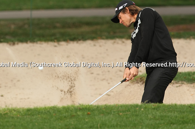 18 March 2010: Aaron Baddeley digs out of the sand in the first round of the Transitions Championship Tournament at Innisbrook Golf Resort in Palm Harbor, Florida.