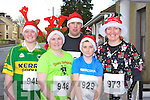 Amy Carmody Listowel, Michelle Brosnan Moyvane, Patrick Collins Abbeyfeale, Conor Mullane Abbeyfeale and Theresa Grimes Listowel getting fit for Christmas at the Jingle Run in Castleisland on Sunday