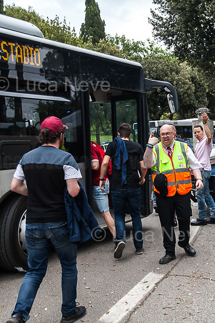 Stewards and staff from Liverpool Football Club.<br />