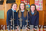 First year students at St Joseph's Secondary School in Ballybunion demonstrating their science skills at the first year science fair and competition. .L-R Amanda Collins, Jessica Keane and Kayleigh Ryall who tested crisps to see whcih has the most energy.