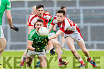 Eamon Kiely  St Kierans  and Mark Ryan Rathmore at the SFC clash in Fitzgerald Stadium on Sunday