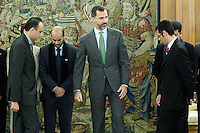 Prince Felipe of Spain during a meeting with a group of young Moroccan politicians.December 10 ,2012. (ALTERPHOTOS/Acero) /NortePhoto