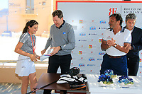 ladies longest drive at the prize giving during the ProAm ahead of the Rocco Forte Sicilian Open played at Verdura Resort, Agrigento, Sicily, Italy 09/05/2018.<br /> Picture: Golffile | Phil Inglis<br /> <br /> <br /> All photo usage must carry mandatory copyright credit (&copy; Golffile | Phil Inglis)