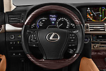 Car pictures of steering wheel view of a 2016 Lexus LS 600H-L-President-Line 4 Door Sedan Steering Wheel