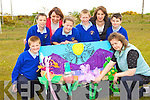 Renowned Artist Mary Sheehan helped the children of Raheen NS with their Kerry County Coucil project 'The view from my class window' at the school on Wednesday l-r: Conor Hobbs, Tommy Bowler, Ciara Faulds, Shane Warren and Jane O'Connor