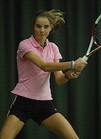 10-3-06, Netherlands, tennis, Rotterdam, National indoor junior tennis championchips, Arantxa Rus