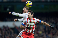 Sergio Ramos and Diego Costa fights for ball