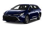 2019 Toyota Corolla Touring Sports Premium 5 Door Wagon angular front stock photos of front three quarter view