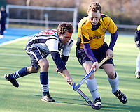 dMike Williamson (L) in action for Hampstead uring the EHL Mens Cup Quarter-Final game between Hampstead and Westminster and Old Loughtonians at the Paddington Recreation Ground, Maida Vale on Sun Mar 7, 2010