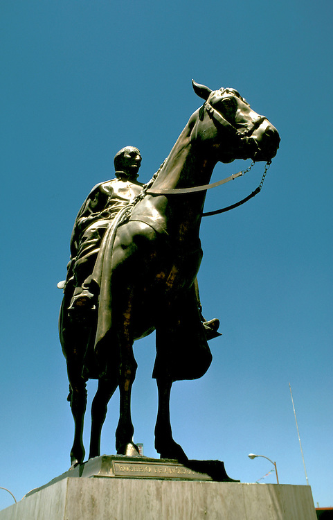 Mexico: Eusobio Kino Statue in Hermosillo,  Photo: mxkino102.Photo copyright Lee Foster, www.fostertravel.com, 510/549-2202, lee@fostertravel.com
