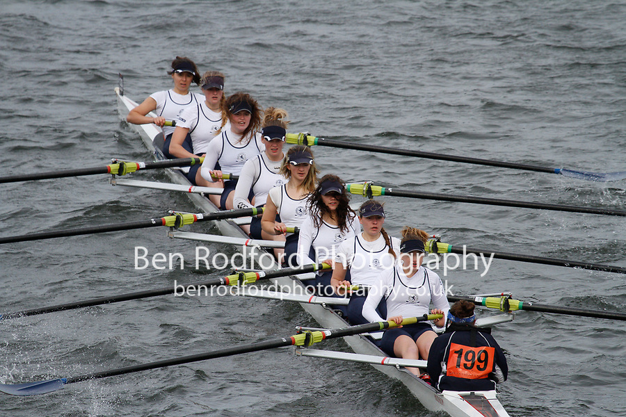 Crew: 199  Henley RC  Event: Girls School 1st eights<br /> <br /> Schools' Head of the River 2017<br /> <br /> To purchase this photo, or to see pricing information for Prints and Downloads, click the blue 'Add to Cart' button at the top-right of the page.