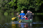 Father & son canoeing down the Flambeau River