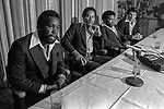 October 24, 1978--OJ Simpson--Sportsmen of Stanislaus invited OJ Simpson, Cleveland  Elam, Cedrick Hardman and Jimmy Webb of the San Francisco 49ers to Outstanding Athlete Awards banquet.  Photo by Al Golub/Golub Photography