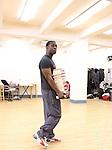 Adesola Osakalumi rehearsing for the touring company of 'FELA!'  at the Pearl Studios in New York City on 1/23/2013
