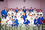 JUDO: Tralee Judo School win Gold at the week-end national community games finals in Athlone, winners David Long, Cillian Brosnan, Sadhbh Brosnan,Ryan O'Sullivan Currie O'Connor,Jamal Ismain,laura Foley and Diane Cooper get a big cheer as they arrive for traion g on Tuesday evening in Kilduff Community from fellow Judo class mates .
