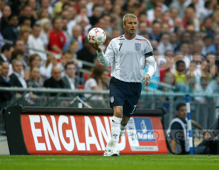 England's David Beckham..International Friendly..England v Brazil..1st June, 2007..--------------------..Sportimage +44 7980659747..admin@sportimage.co.uk..http://www.sportimage.co.uk/