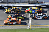 Monster Energy NASCAR Cup Series<br /> Daytona 500<br /> Daytona International Speedway, Daytona Beach, FL USA<br /> Sunday 18 February 2018<br /> Daniel Suarez, Joe Gibbs Racing, ARRIS Toyota Camry, Martin Truex Jr., Furniture Row Racing, Bass Pro Shops/5-hour ENERGY Toyota Camry, Erik Jones, Joe Gibbs Racing, DEWALT Toyota Camry, Kyle Busch, Joe Gibbs Racing, M&amp;M's Toyota Camry, Kasey Kahne, Leavine Family Racing, Procore Chevrolet Camaro<br /> World Copyright: John K Harrelson<br /> LAT Images