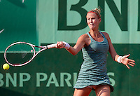 MATHILDE JOHANSSON (FRA)..Tennis - Grand Slam - French Open- Roland Garros - Paris - Sat May 26th 2012..© AMN Images, 30, Cleveland Street, London, W1T 4JD.Tel - +44 20 7907 6387.mfrey@advantagemedianet.com.www.amnimages.photoshelter.com.www.advantagemedianet.com.www.tennishead.net